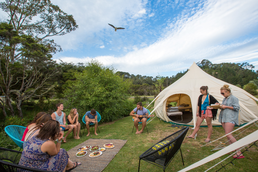 Glamping at Hot Water Beach