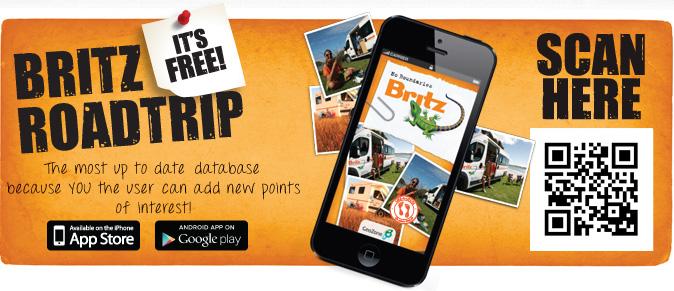 Britz Travel App scan here