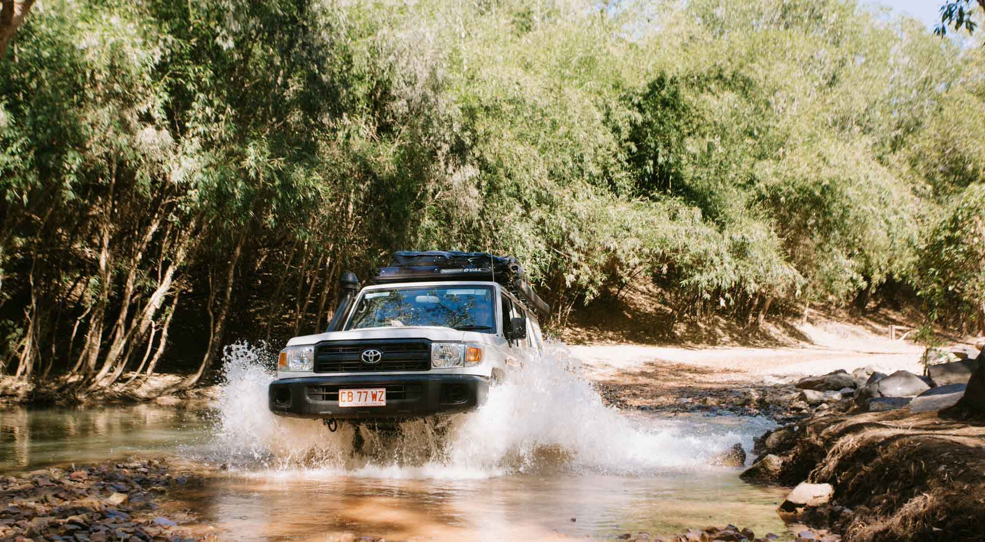Britz Safari 4WD in water