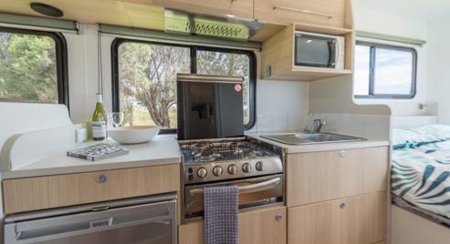 kitchen fridge, stove, oven, microwave, sink