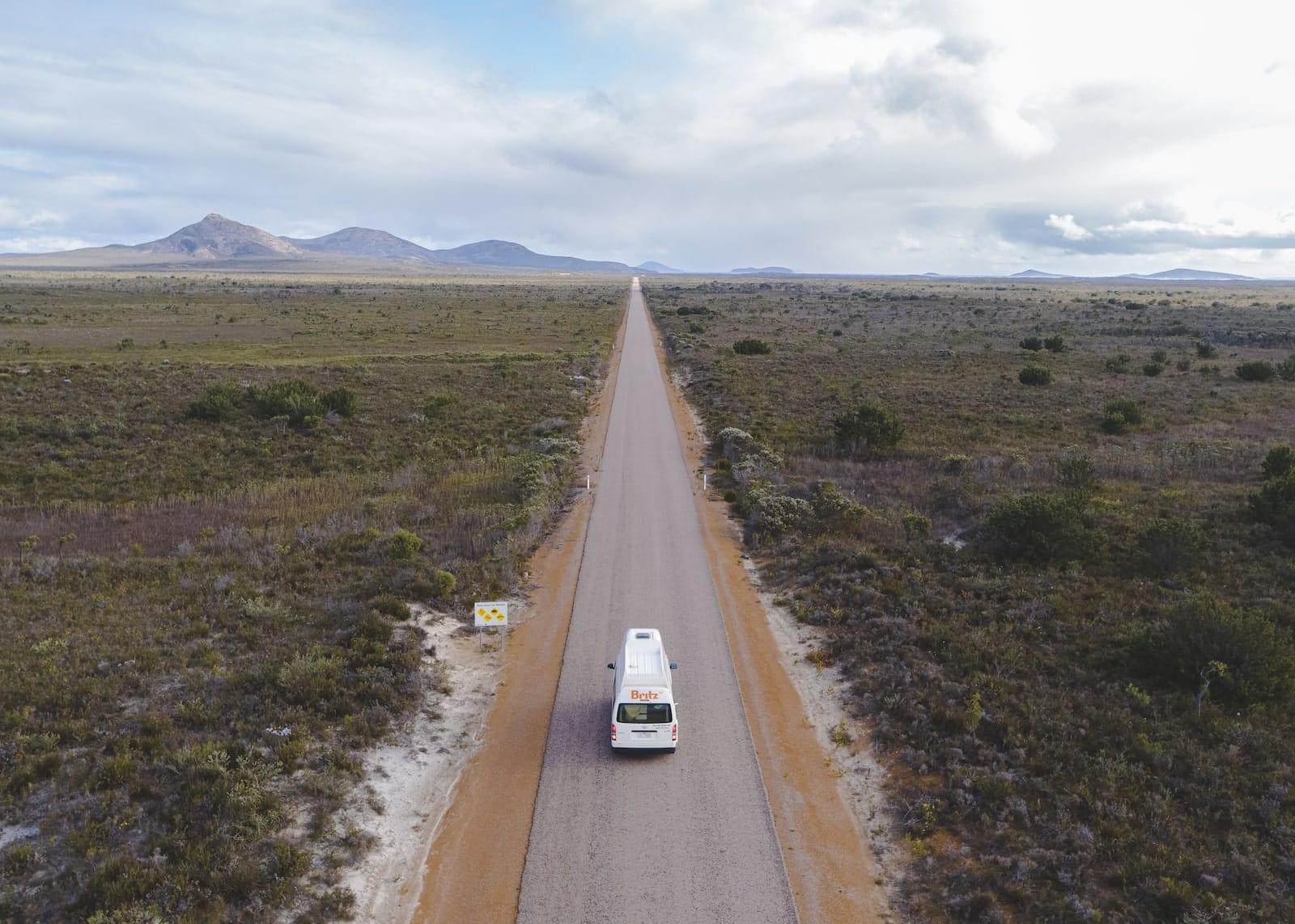 britz campervans western australia cape range esperance
