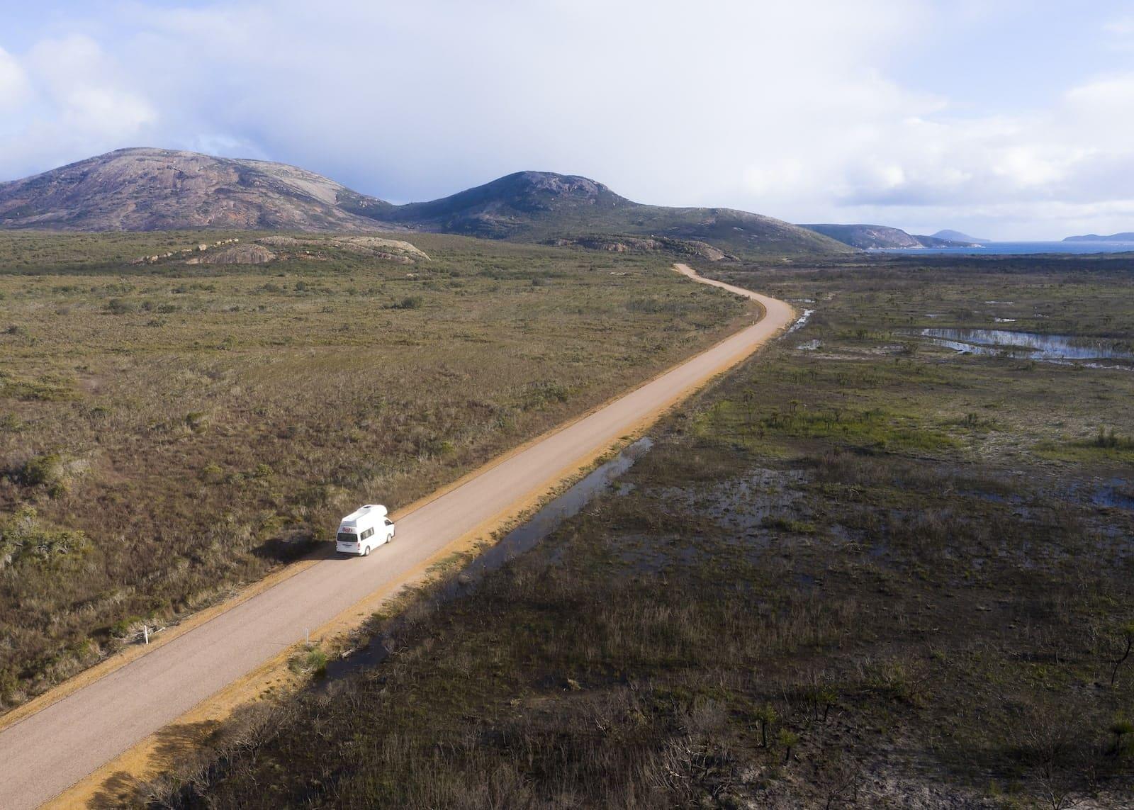britz campervans western australia cpae range espereance
