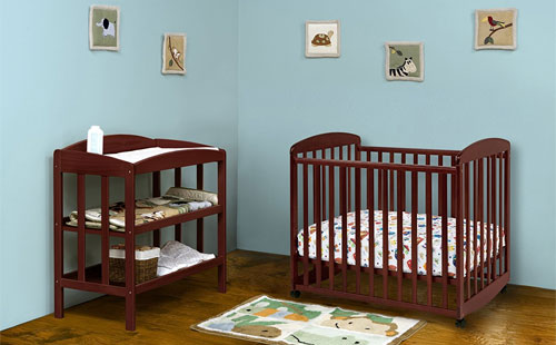 baby with table small changing crib for sets cribs spaces mini