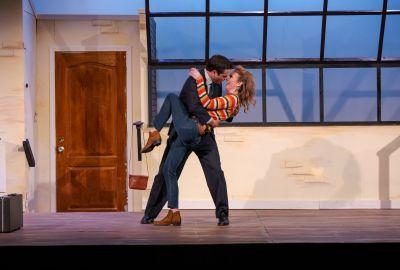 Thomas Azar as Paul and Jennifer Webb as Corie.