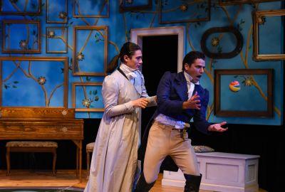 Thomas Azar as Mr. Darcy, Skye Passmore as Miss Bingley