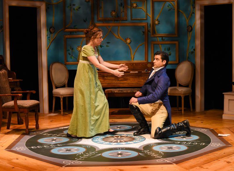 Thomas Azar as Mr. Darcy, Amanda Sox as Lizzy Bennet
