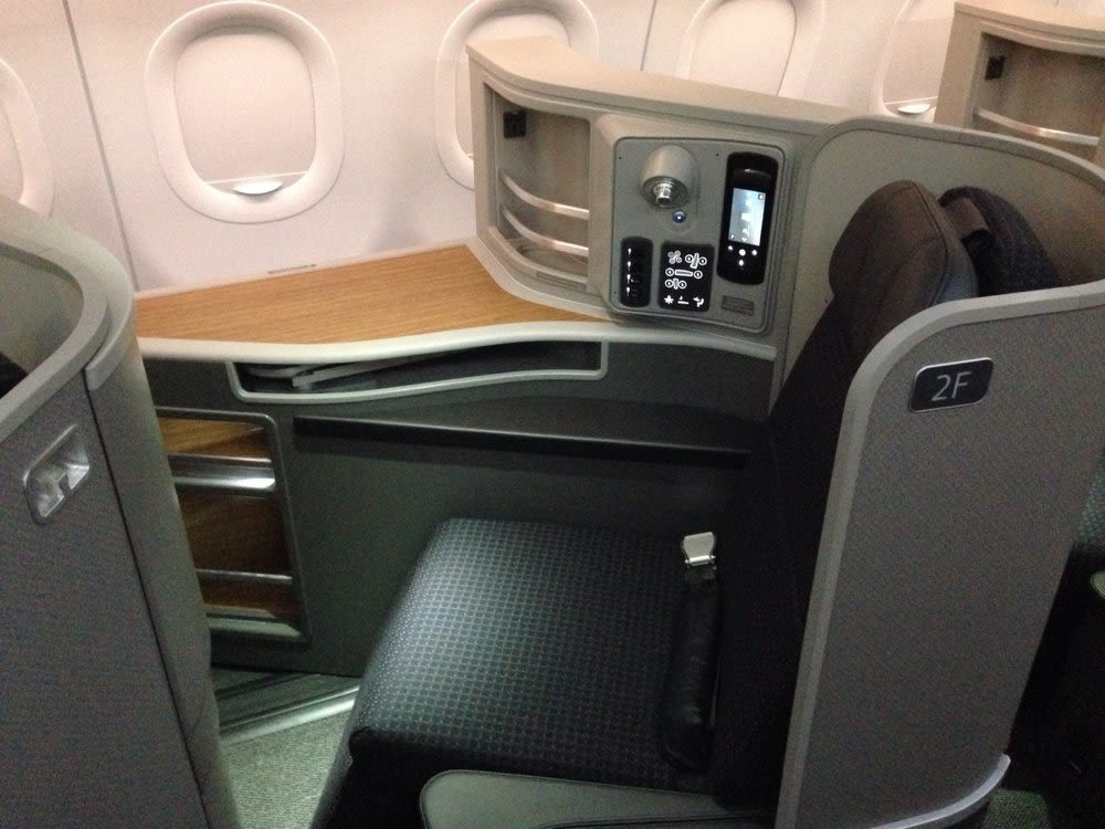 Photo of a first class seat
