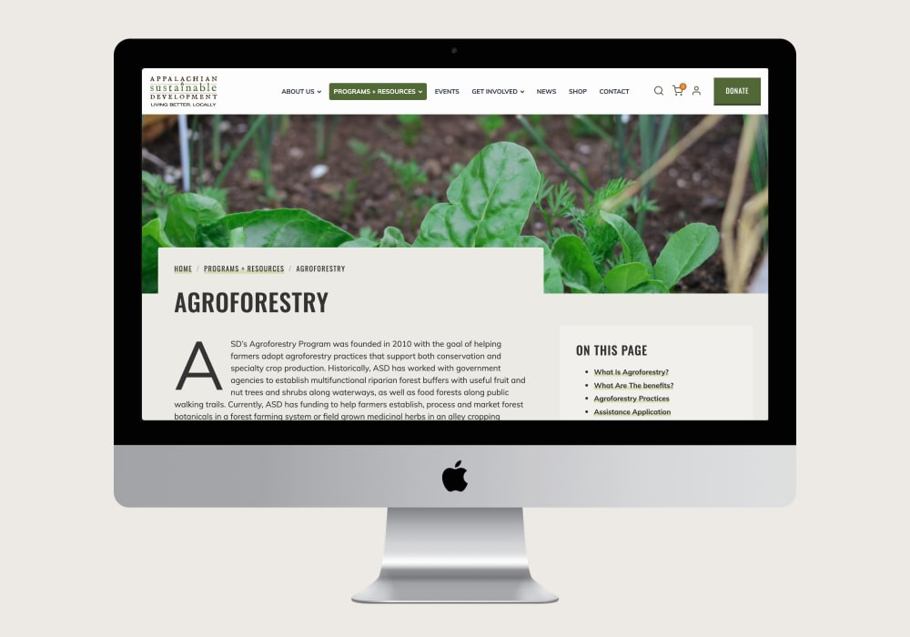 Appalachian Sustainable Development Agroforestry Page