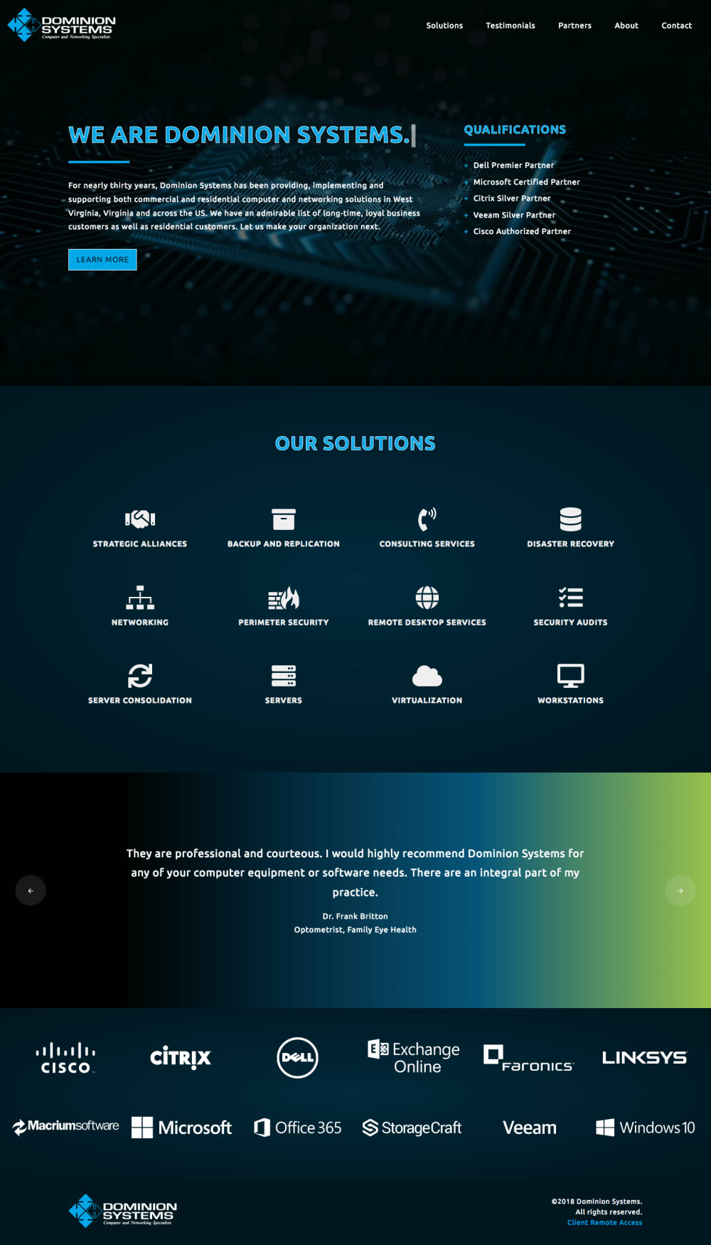 Dominion Systems Homepage