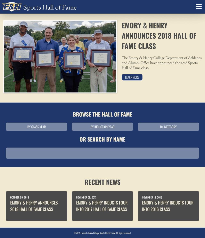 EHC Hall of Fame Homepage
