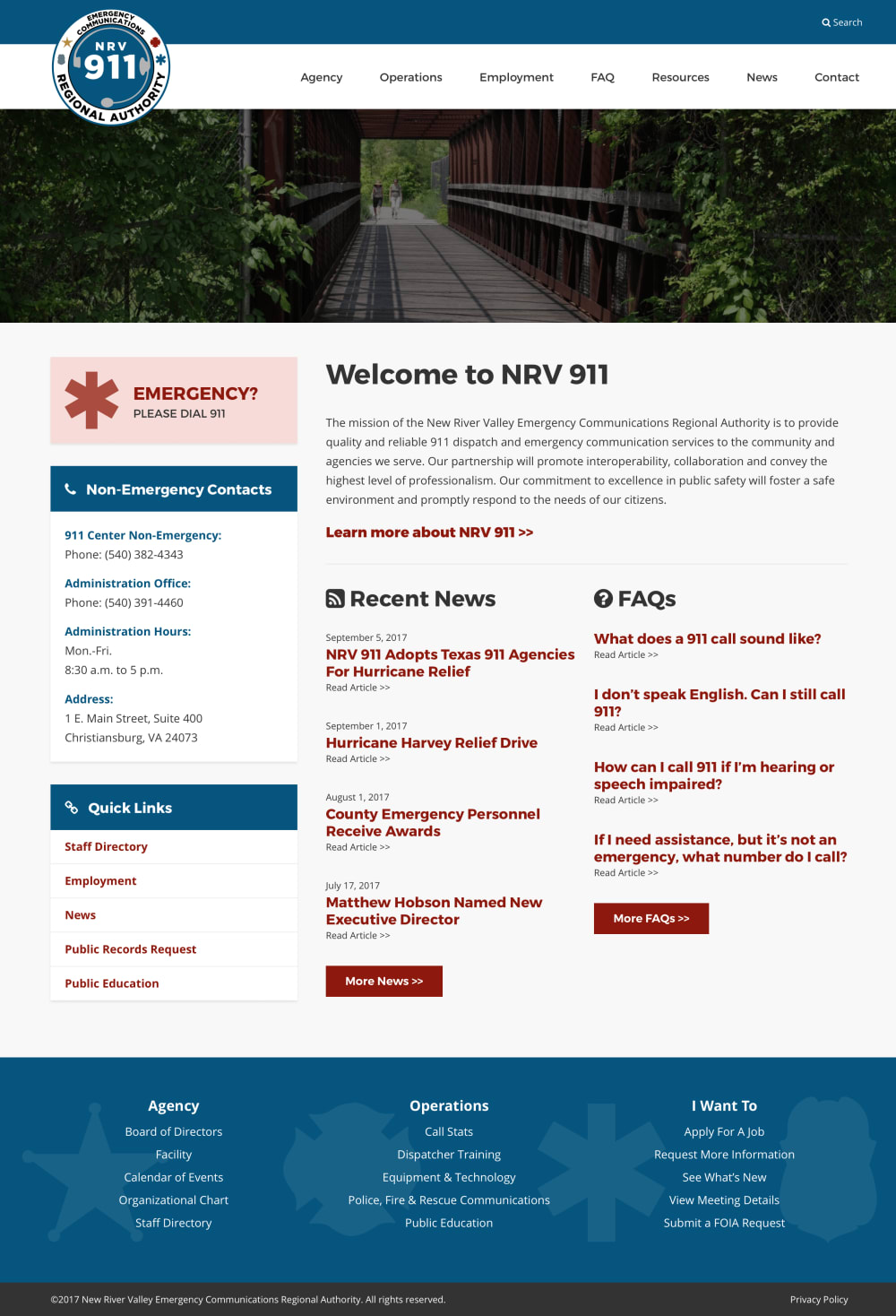 NRV 911 Homepage
