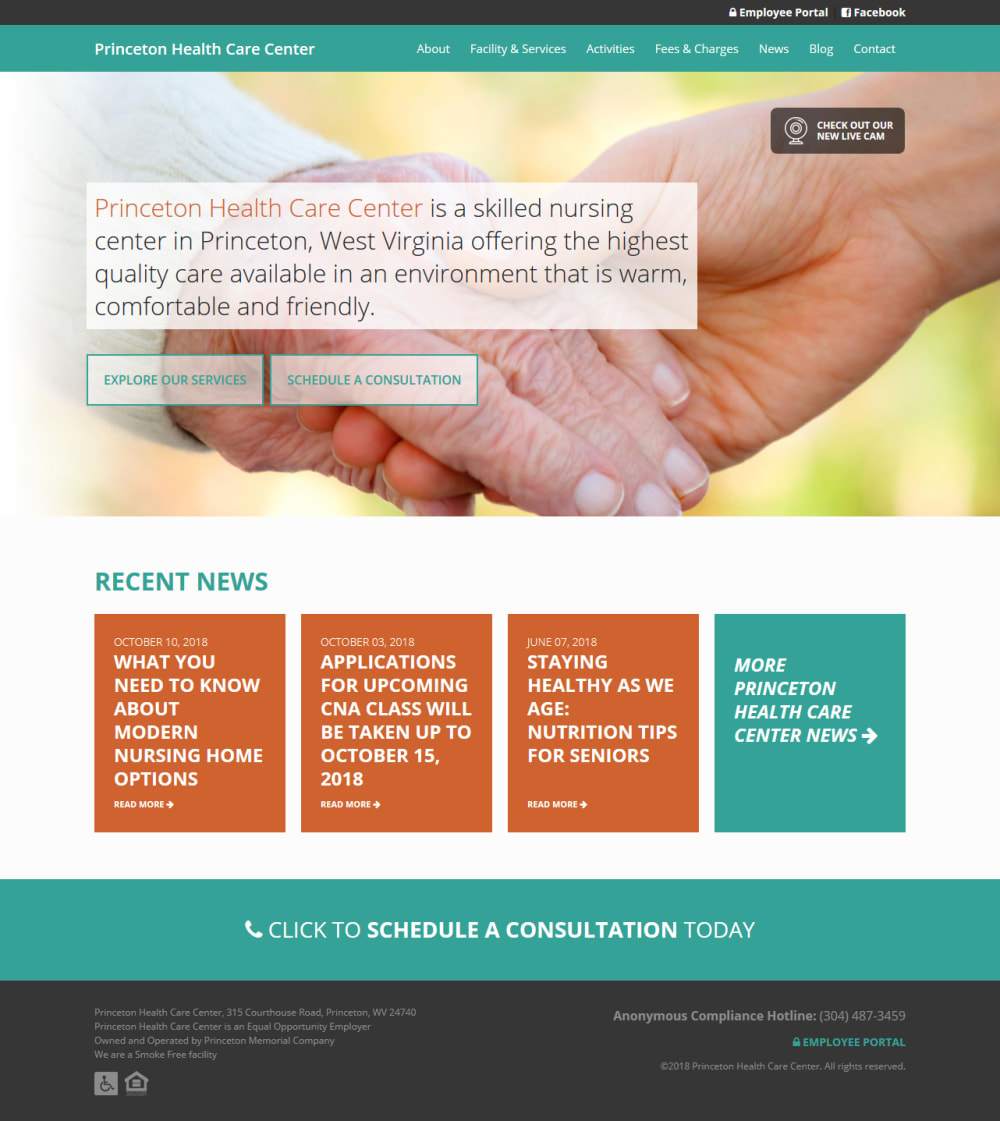 Princeton Health Care Center Homepage