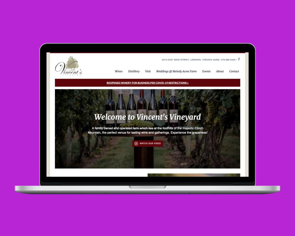 Vincent's Vineyard Homepage