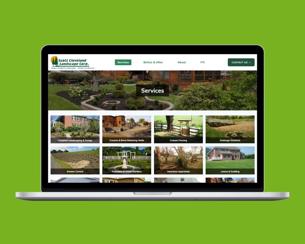Scott Cleveland Landscape services page