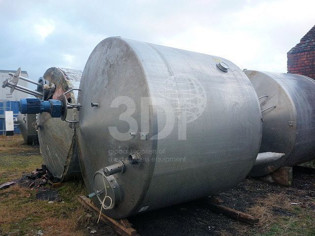 8,000 Litre Stainless Steel Jacketed Mixing Vessel