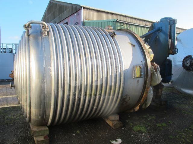 12,000 Litre Stainless Steel Reactors