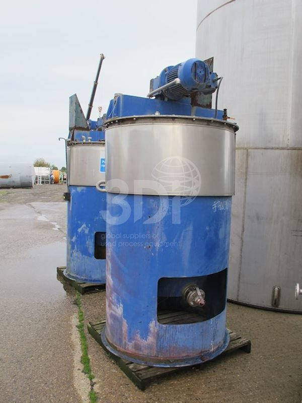 1,000 Litre Stainless Steel Mixing Tank
