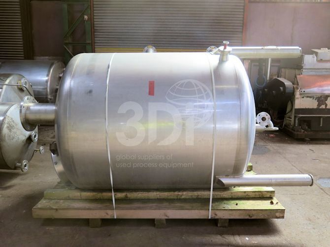 2,500 Litre Stainless Steel Storage Tank