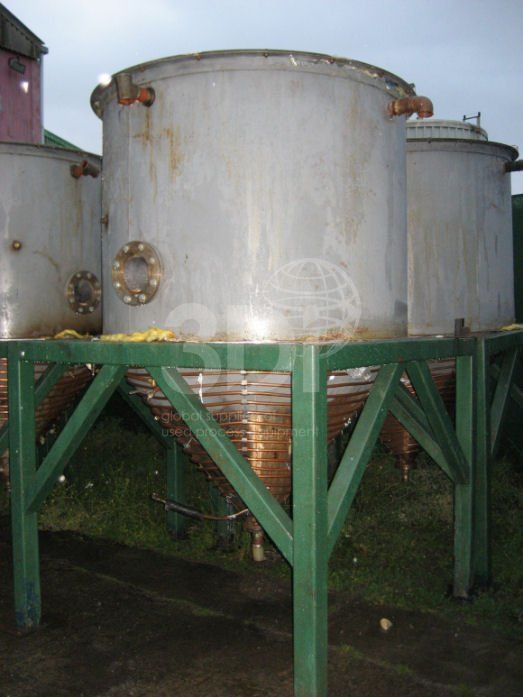 3,000 Litre Mild Steel Mixing Tank-829-a