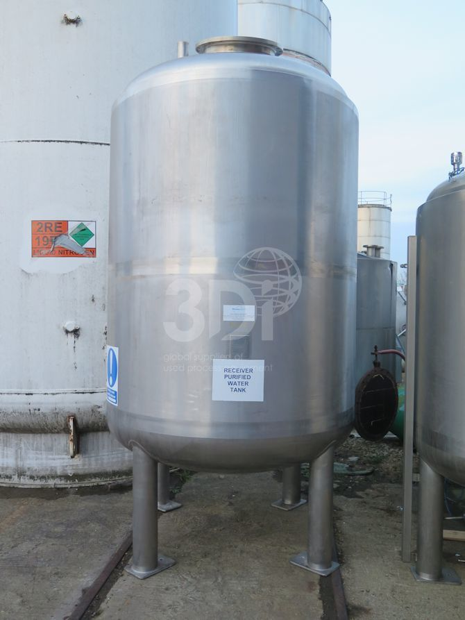 6,000 Litre Stainless Pressure Vessel-2292-a