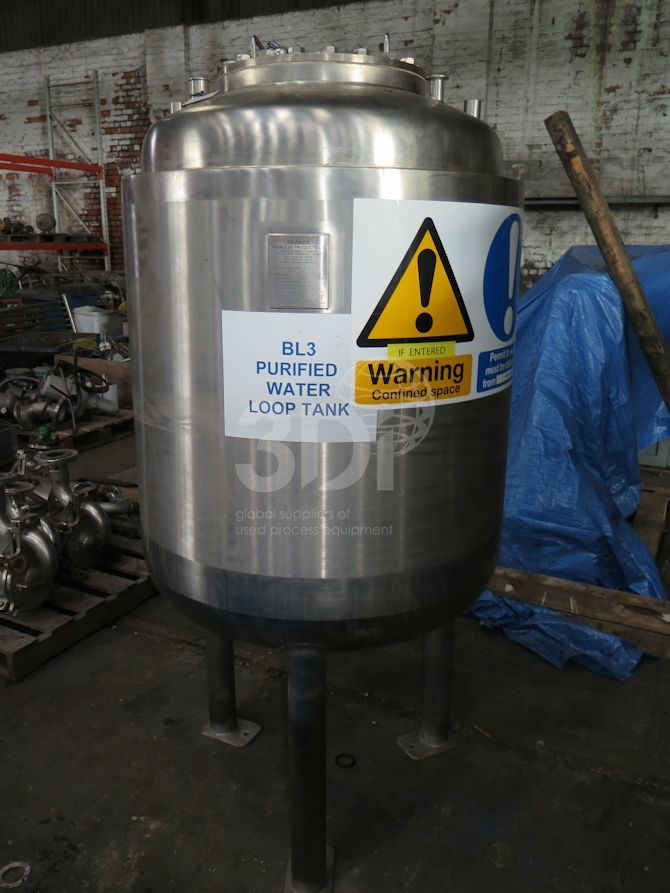500 Litre Stainless Steel Pressure Vessel #2294 a