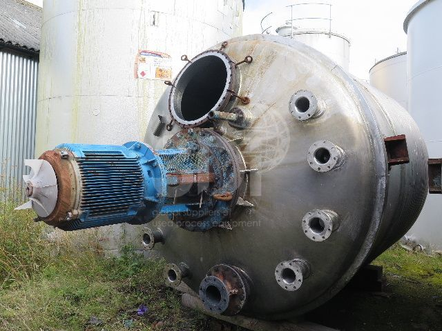 12,000 Litre Stainless Reactor Vessel #2023-a