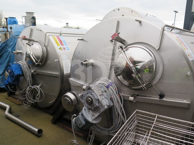 10,000 Litre Stainless Steel Mixing Vessel a
