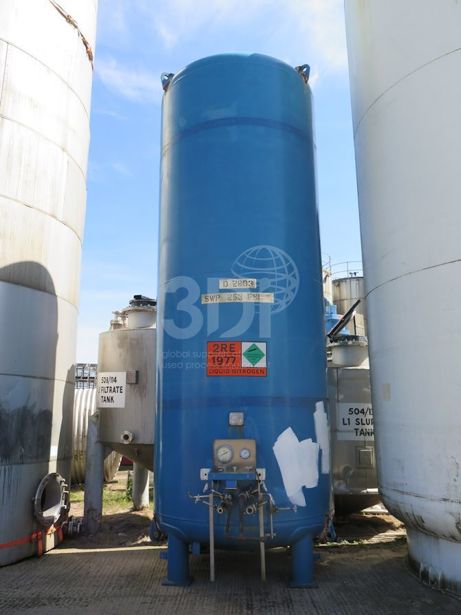 13,430 litre liquid nitrogen storage tank #1944 main image