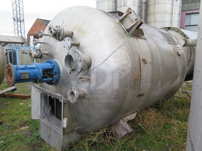 10,000 Litre Stainless Steel Mixing Vessel #1422 main image