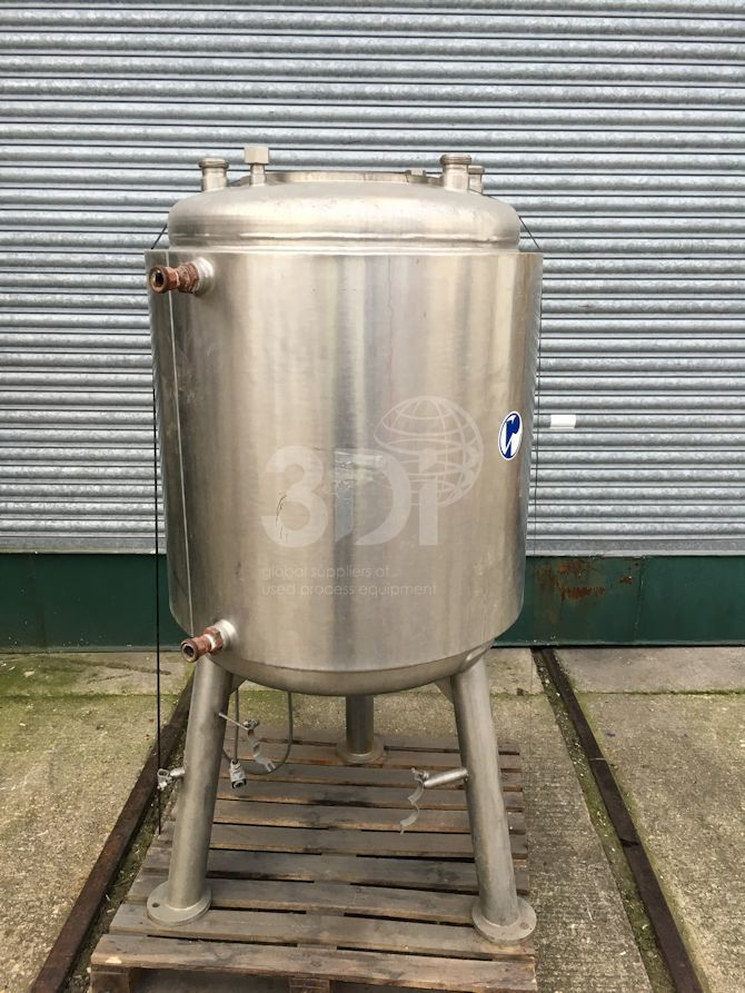 400 Litre Stainless Jacketed Mixing Vessel #2349 main image