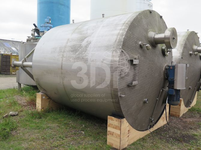 main image of a 18000 litre jacketed mixing tank