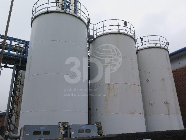 main image of 100000 litre mild steel storage tanks in situ
