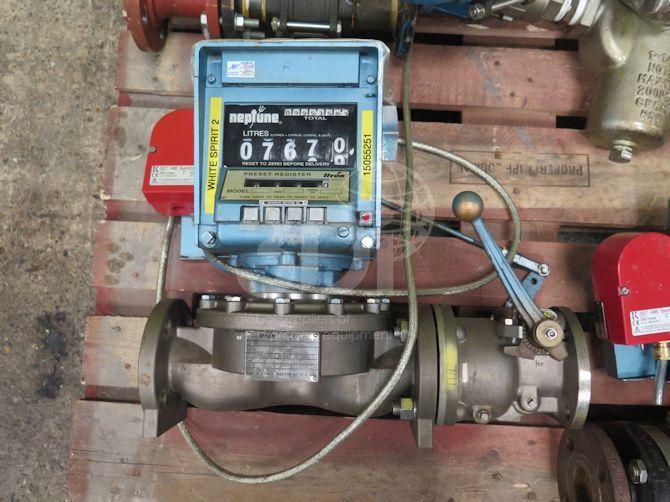 image of neptune process flowmeter type mp #2490a