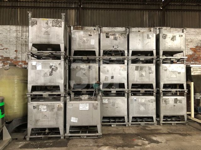 main image of 1000 litre stainless steel ibcs stock 2455i