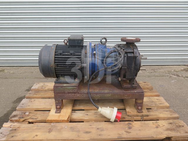 image of a ksb centrifugal mag drive pump tyam-t 32-200 stock 2096a