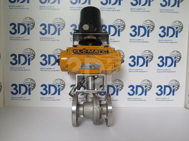image of a bac flanged ball valve type fb stock 1458a