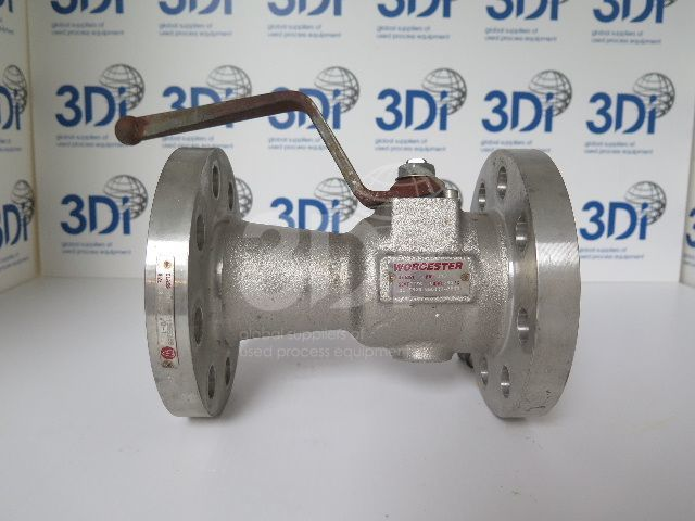 image of a worcester flanged ball valve f529