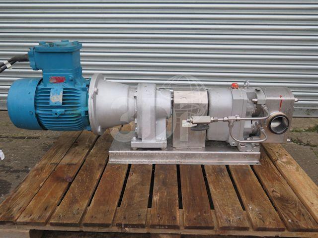 side image of fristam rotary lobe pump fl100l stock 2526a