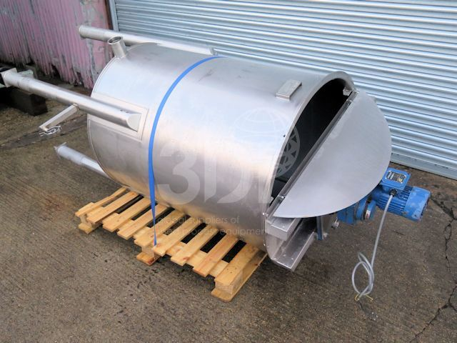 image of 700 litre stainless mixing vessel #2533a
