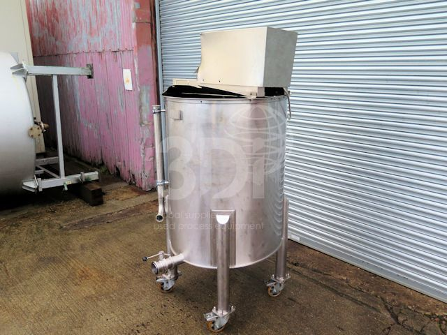 image of 700 litre stainless steel mixing tank #2534a