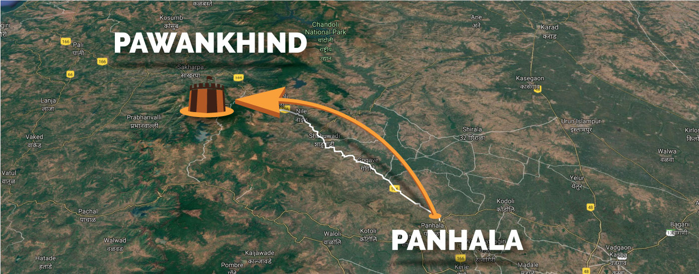 Panhala to Pawankhind