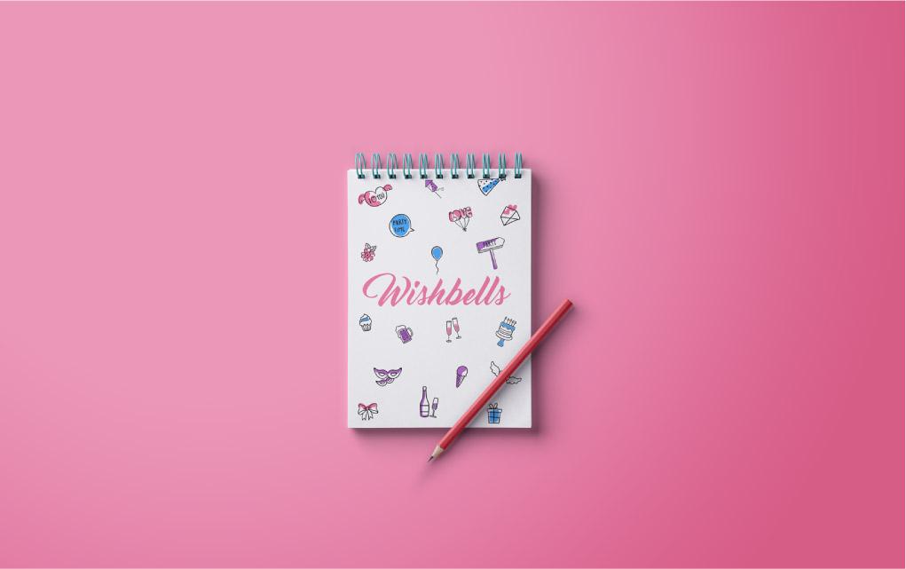 Wishbells Diary Mockup