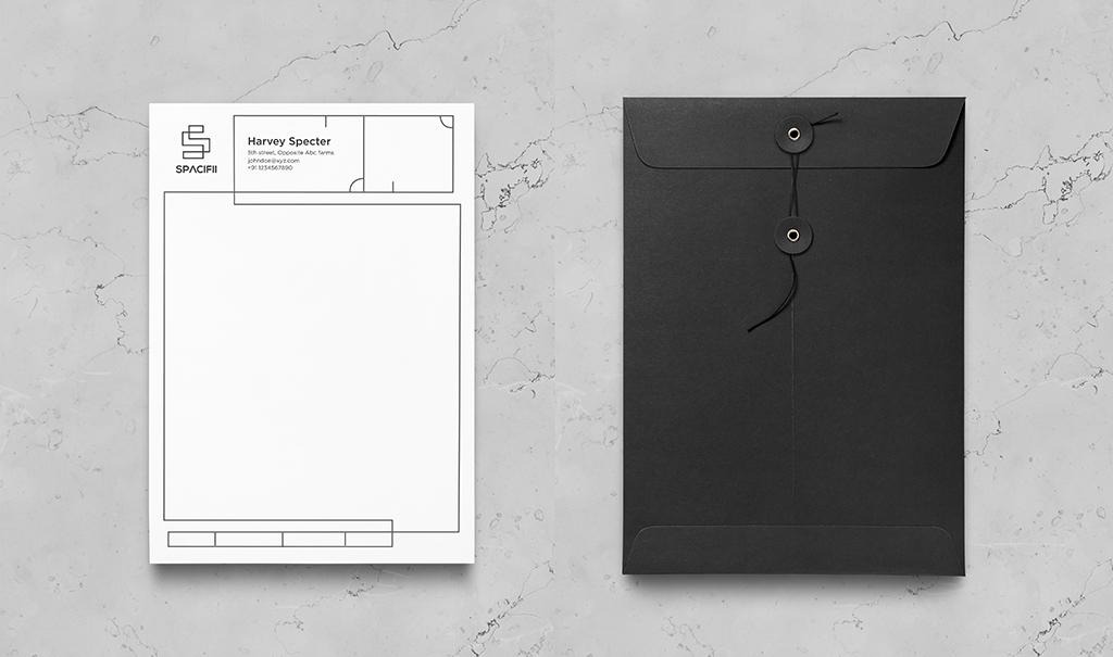 Spacifii Envelop MockUp Design
