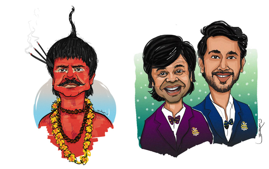 Wishbells Rajpal Yadav Cartoon Design