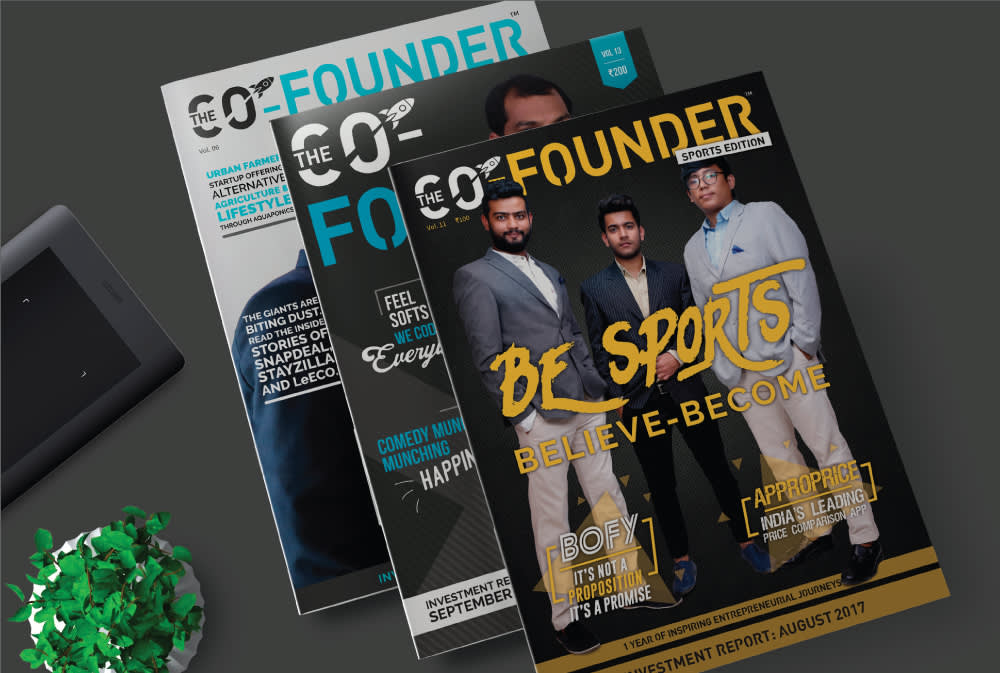 Co Founder Magazine Front Page Designs
