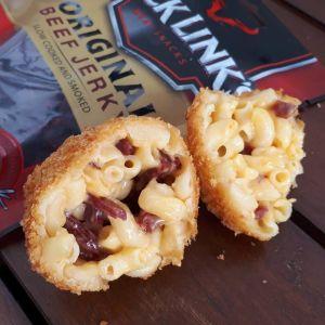 Beef Jerky & Mac'n'Cheese Balls
