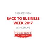Back to Business Week Workshops