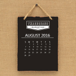 Photo of a calendar image in