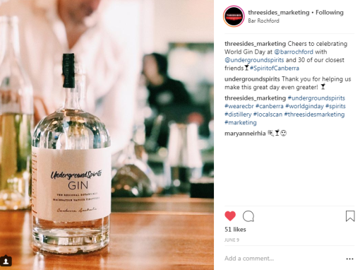 Content marketing instagram Canberra