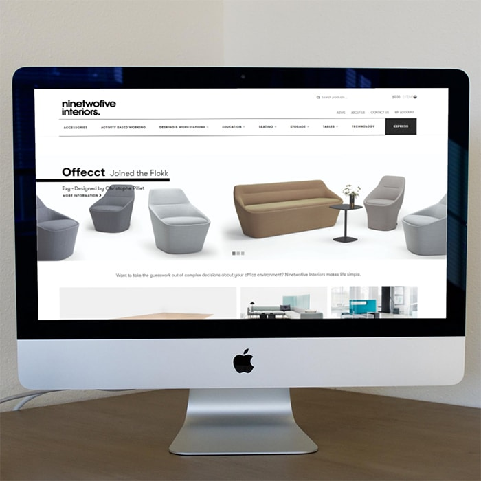 Nine to Five Interiors Website